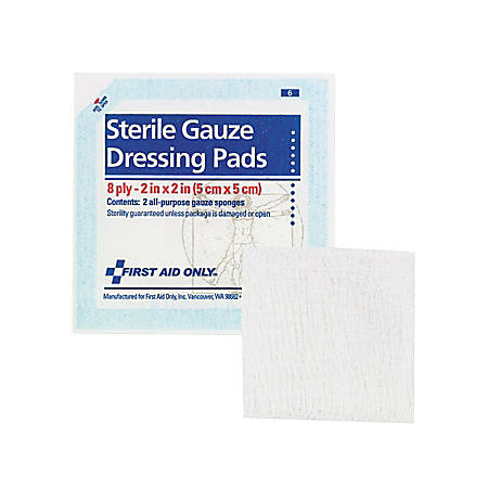 """First Aid Gauze Pads, 2"""" x 2"""", 5/Pack"""