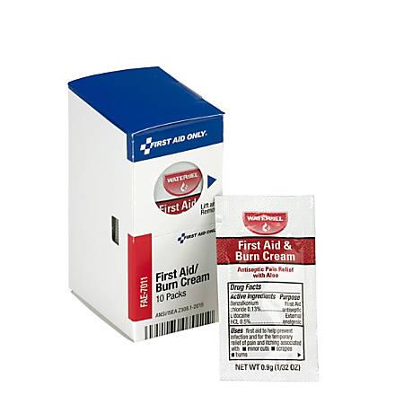 First Aid Burn Cream, 10 Packets/Box
