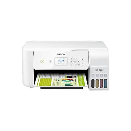 Epson® EcoTank ET-2720 Wireless Color Inkjet Supertank All-In-One Printer, Copier, Scanner, C11CH42202