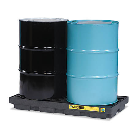 Justrite EcoPolyBlend™ Accumulation Center, 2-Drum, Black