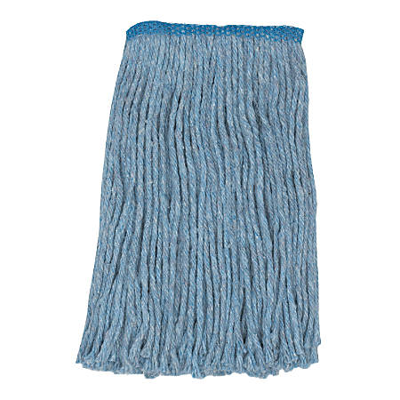 Wilen Go Go™ Cut-End Mop, Narrow Band, Blue, Pack Of 12
