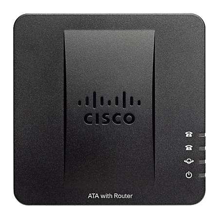 Cisco SPA122 ATA with Router - 2 x RJ-45 - 2 x FXS - Fast Ethernet - Desktop, Wall Mountable