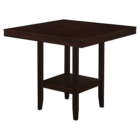 """Monarch Specialties Ashley Dining Table, 36""""H x 42""""W x 42""""D, Cappuccino"""