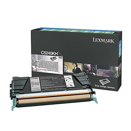 Lexmark™ C5240KH Return Program High-Yield Black Toner Cartridge