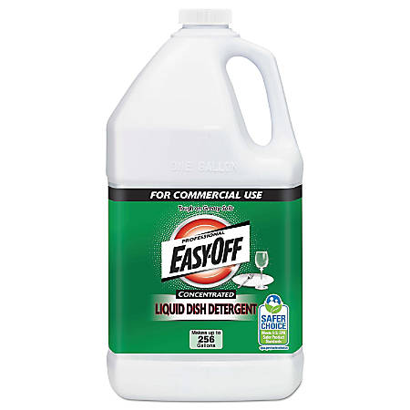 Professional EASY-OFF® Liquid Dish Detergent Concentrate, 1 Gallon Per Bottle, Carton Of 2 Bottles