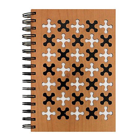 """Inkology Laser Cut Journals, 5-7/8"""" x 8-1/4"""", College Ruled, 192 Pages (96 Sheets), Multicolor, Pack Of 6 Journals"""