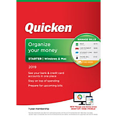 Quicken Starter 2019 1 Year Subscription