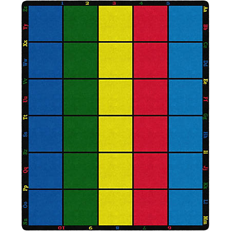 "Flagship Carpets Learning Grid Carpet, 10' 9"" x 13' 2"", Multicolor"