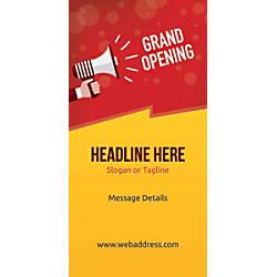 Custom Vertical Display Banner Grand Opening