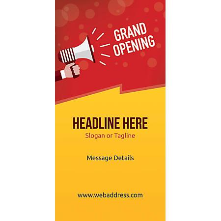 Custom Vertical Display Banner, Grand Opening Announcement