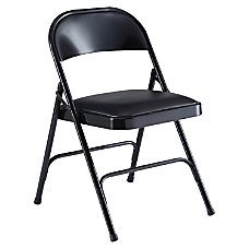 Lorell Vinyl Padded Seat Folding Chair