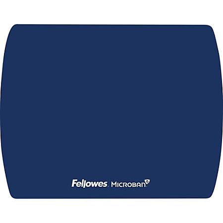 """Fellowes Microban® Ultra Thin Mouse Pad - Blue - 7"""" x 9"""" x 0.1"""" Dimension - Blue"""