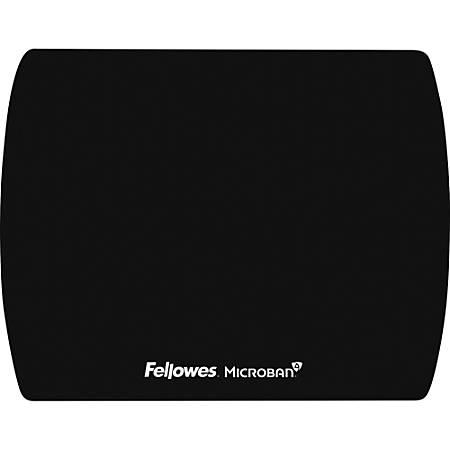 "Fellowes Microban® Ultra Thin Mouse Pad - Black - 7"" x 9"" x 0.1"" Dimension - Black"