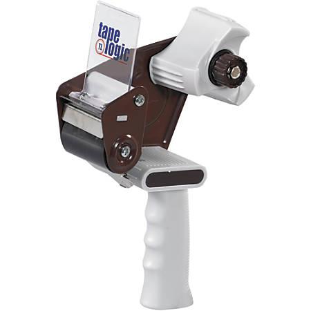 """Tape Logic® Deluxe Carton Sealing Tape Dispenser, For 2"""" Tape, Brown/White"""