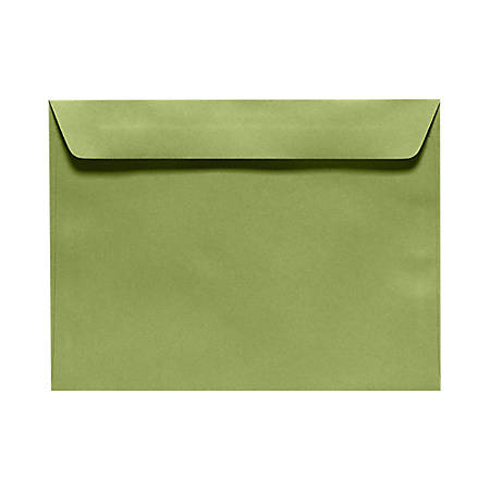 """LUX Booklet Envelopes With Moisture Closure, #9 1/2, 9"""" x 12"""", Avocado Green, Pack Of 250"""