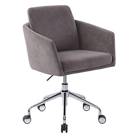 Elle D Cor Vevey Mid Back Chair Slate Office Depot