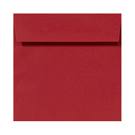 """LUX Square Envelopes With Peel & Press Closure, 5 1/2"""" x 5 1/2"""", Ruby Red, Pack Of 1,000"""
