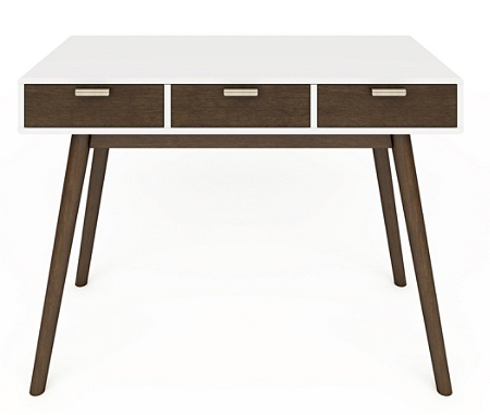 Mid Century Modern Desk White Brown Use And Keys To Zoom In Out Arrow Move The Zoomed Portion Of Image