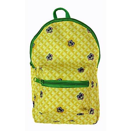 "Nickelodeon SpongeBob Mini Backpack Pencil Pouch, 8""H x 4-1/2""W x 1-3/4""D, Yellow"