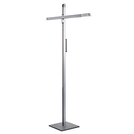 Lumisource Spire Contemporary LED Adjustable Floor Lamp, Charcoal