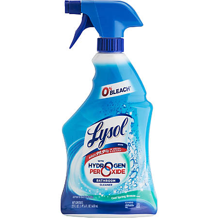 Lysol Power And Free Bathroom Cleaner, Fresh Scent, 22 Oz, Case Of 12