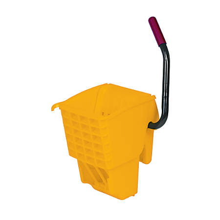 "Rubbermaid® WaveBrake Steel And Plastic Side-Press Wringer, 27""H x 13""W x 13""D, Yellow"