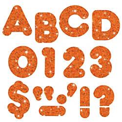 TREND Ready Letters Sparkle 4 Orange