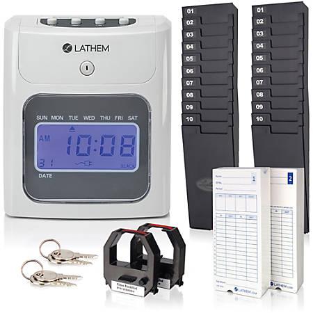 Lathem Model 700E Clock Single Sided Time Cards