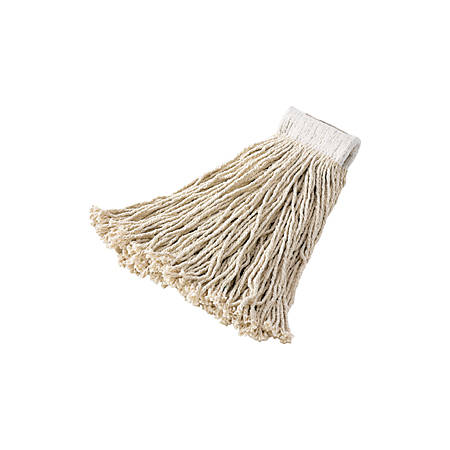 Rubbermaid® Rayon Cut-End Mop Heads, 16 Oz, White, Pack Of 12