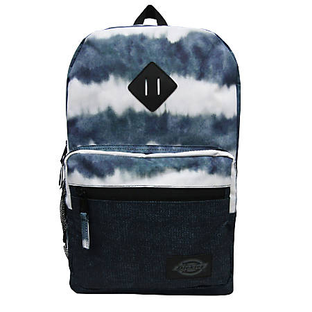 "Dickies Study Hall Backpack With 15"" Laptop Pocket, Denim/Tie-Dye"