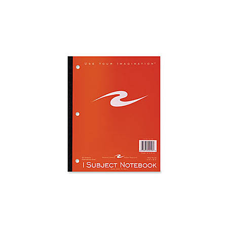 """Roaring Spring Tape Bound Notebook, 8 1/2"""" x 10 1/2"""", 1 Subject, 3-hole punched, Wide Ruled, 50 Sheets, Assorted Colors (No Color Choice)"""