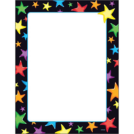 "Trend Gel Stars Copy And Multi-Use Paper, Letter Size (8 1/2"" x 11""), Ream Of 50 Sheets, Assorted"