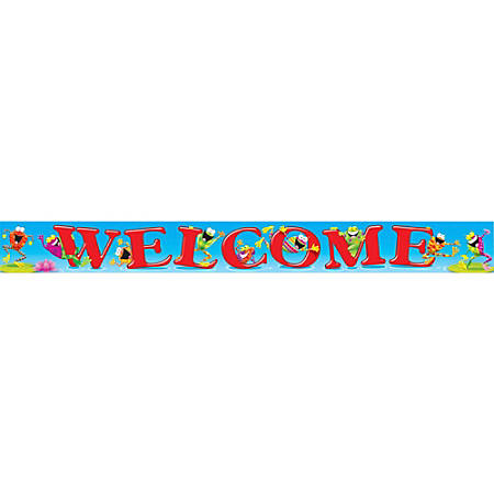 Trend Frog-tastic! Theme Welcome Banner - 10 ft Width - Assorted