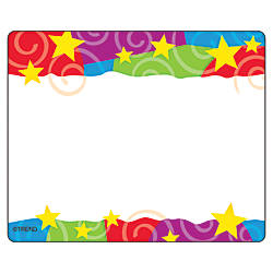 TREND Name Tags Stars N Swirls