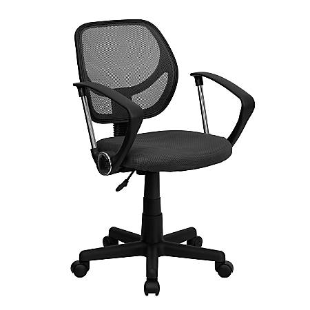 Flash Furniture Mesh Low-Back Swivel Task Chair, Gray/Black