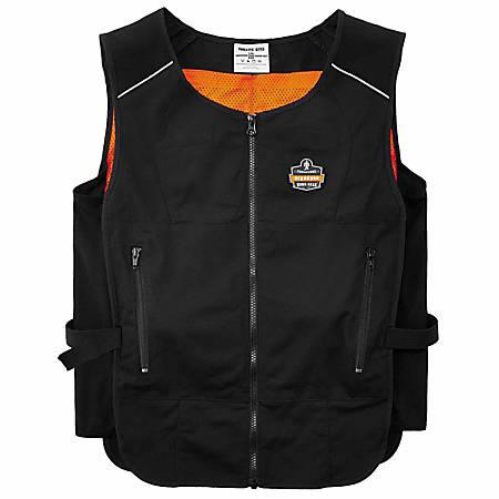 Ergodyne Chill-Its Phase Change Cooling Vest, Large/X-Large, Black, 6255