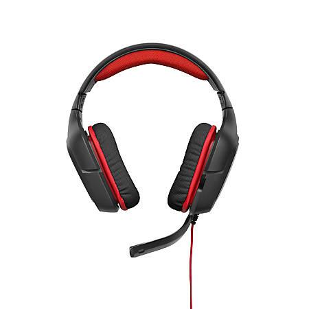 Logitech® G230 PC Gaming Headset, Black/Red