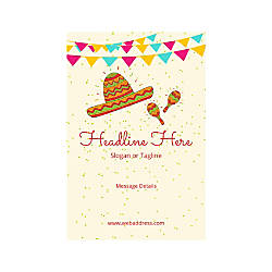 Adhesive Sign Vertical Mexican Hat