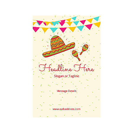 Adhesive Sign, Vertical, Mexican Hat
