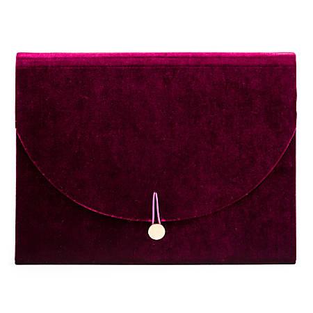 U Brands Fleuri Fashion 7-Pocket Expandable File Folder, Letter Size, Maroon