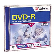 Verbatim DVD R 47GB 16X with