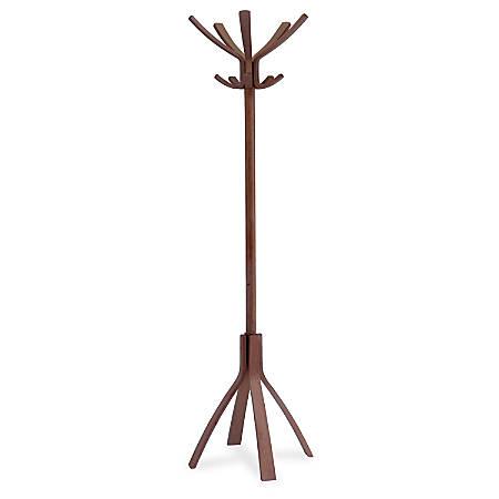 Alba High-capacity Wood Coat Stand - 5 Hooks - for Coat - Wood - 1 / Each