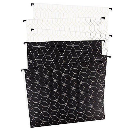 "U Brands Hanging File Folders, 2"" Expansion, Letter Size, Assorted Fashion Colors, Pack Of 6 Folders"