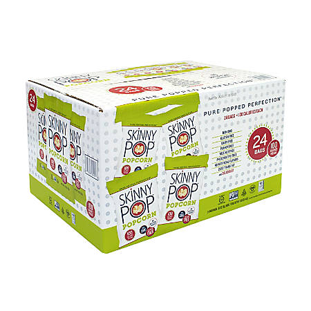 Skinny Pop Popcorn 100-Calorie Bags, Box Of 24 Bags