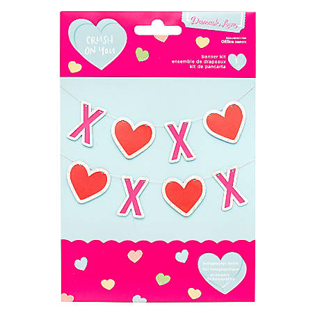 American Crafts Valentines Day Xoxo Banner Office Depot