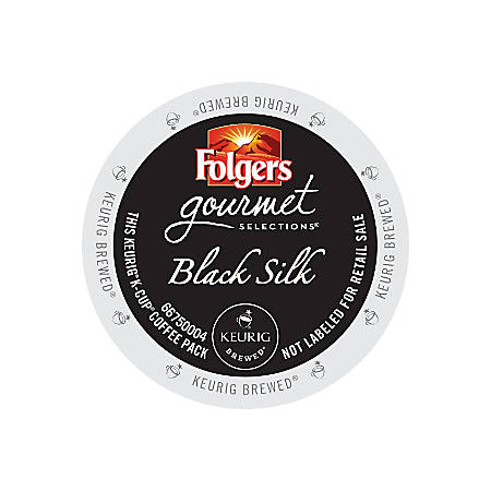 Folgers Gourmet Selections Black Silk K-Cup® Pods, Box Of 24 Pods