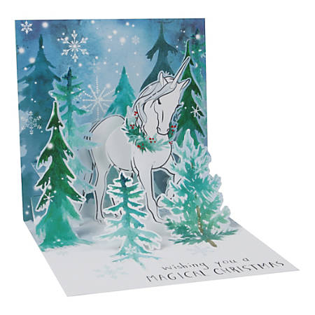 "Up With Paper Christmas Pop-Up Greeting Card With Envelope, 5-1/4"" x 5-1/4"", Magical Christmas, Message Inside"
