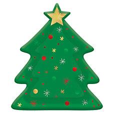 Amscan Christmas Tree Shaped Plates 10