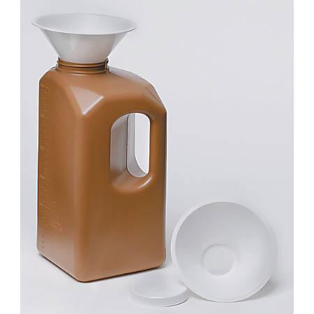 Medline 24-Hour Urine Collection Bottles, 3,000 mL, Amber/Clear, Case Of 20
