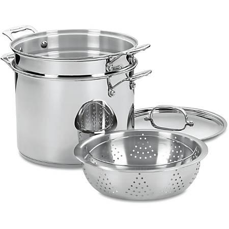 Cuisinart 77412 Stockpot - 12 quart Stockpot, Pasta Insert, Steamer Basket - Stainless Steel - Dishwasher Safe - Oven Safe